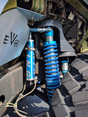 King Coilover shocks with reservoirs on a Jeep Wrangler JK