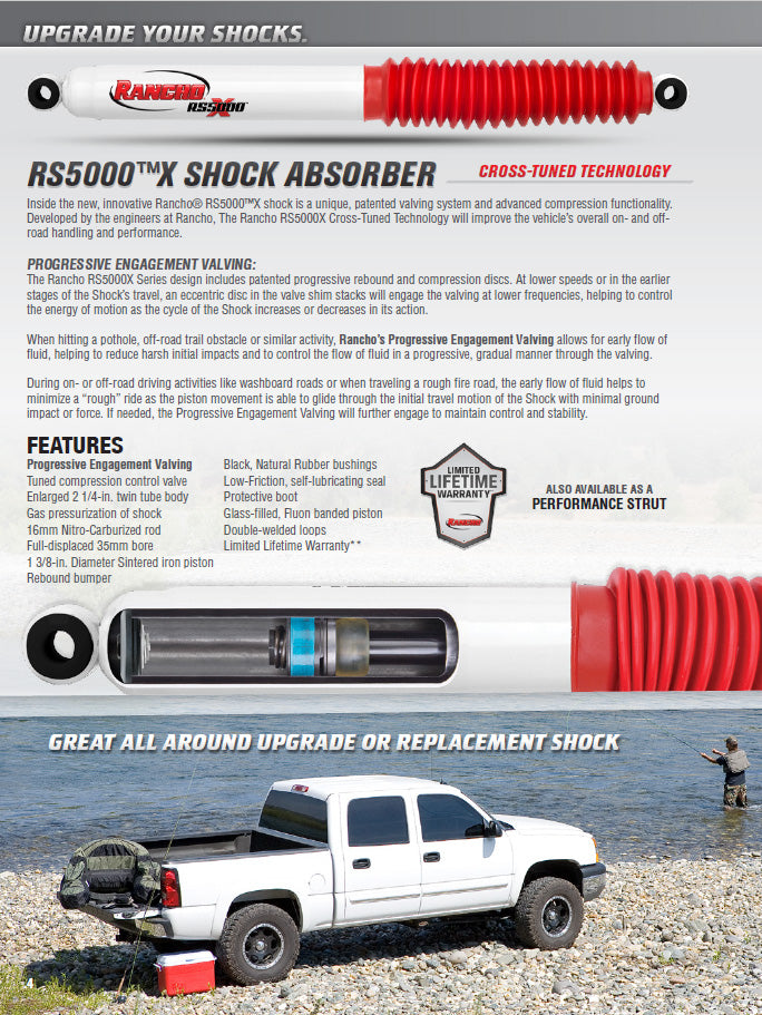 Rancho RS5000X Gas Shocks Set for 2001 Dodge Ram 1500 4WD