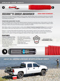 Rancho RS5000X Gas Shocks Rear Pair for 1998-2004 Nissan Frontier RWD
