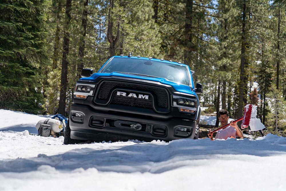 Ram Power Wagon in the Snow