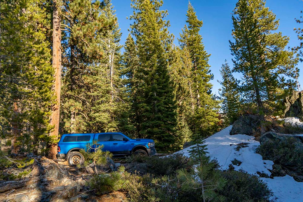 Ram Power Wagon in Tahoe National Forest
