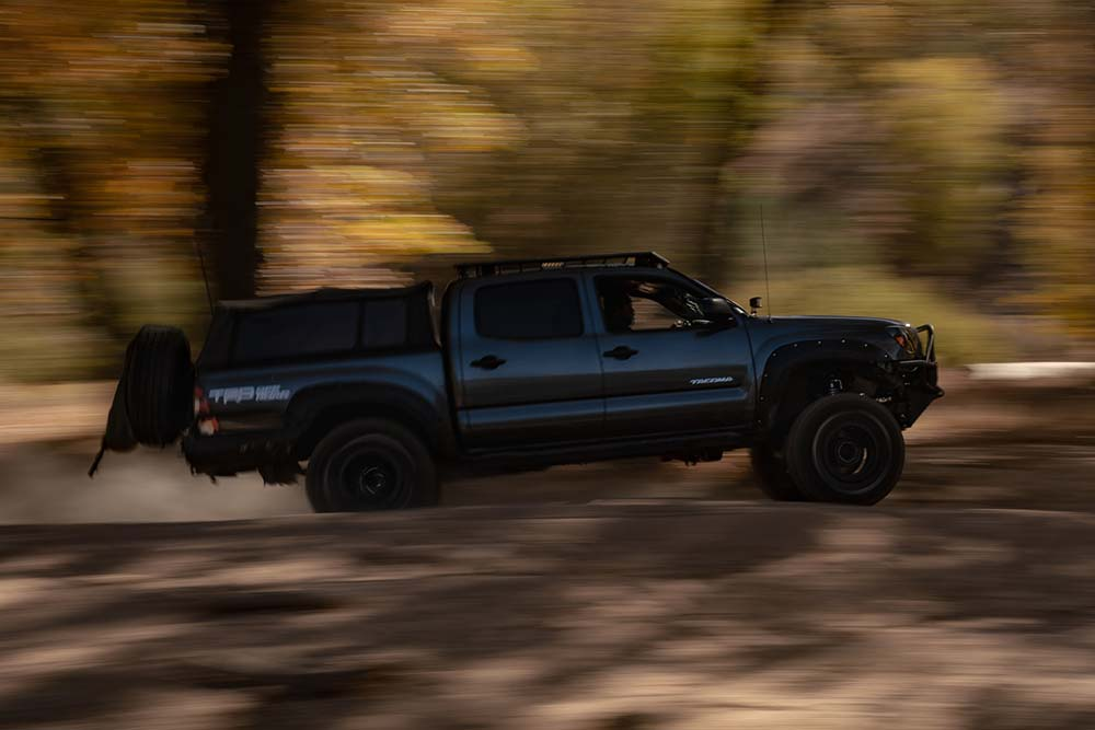 Toyota Tacoma on Pilot Rock Trail with Performance Off-road Shocks