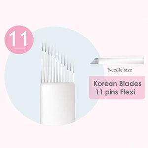 Princess Brows Manual Microblade Needle 11 Pins Flexi - VU LONDON PMU UK