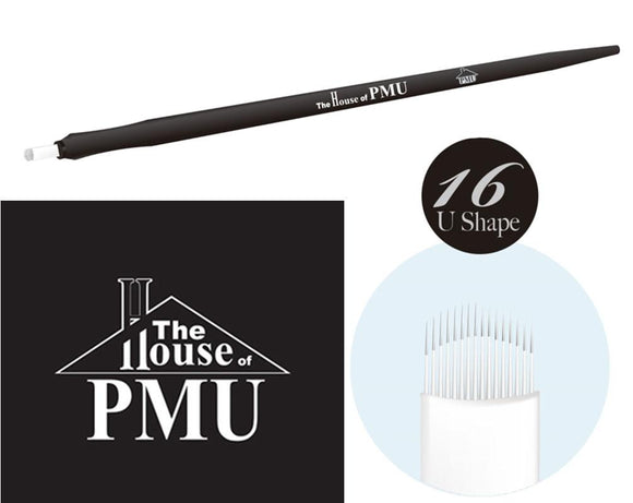 The House of PMU PRECISION Microblade 16 Flexi Slant Pins and U Shape - VU LONDON PMU UK