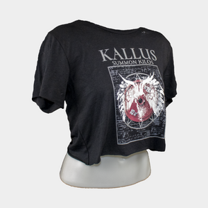 Summon Kilos 1.0 Hand Cropped and Distressed Tee - Black