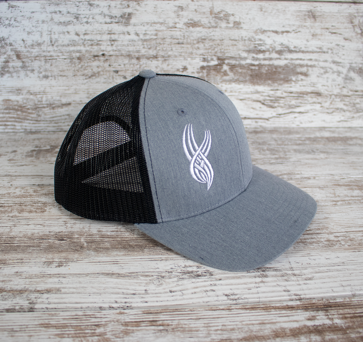 Curved Mesh Snapback - Heather/Black