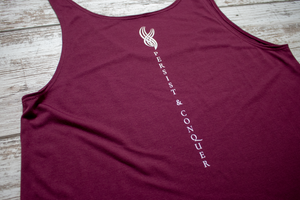 The Divide Tank - Maroon