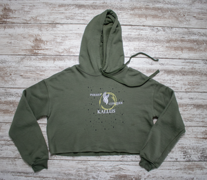 Women's Cropped Hoodie - Forest