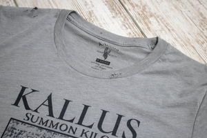Summon Kilos 1.0 Hand Cropped and Distressed Tee - Cement