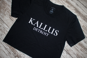 Detroit Hand Cropped Tee - Black