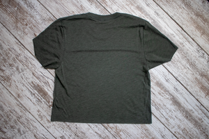 Torched Michigan Hand Cropped Tee - Military Green