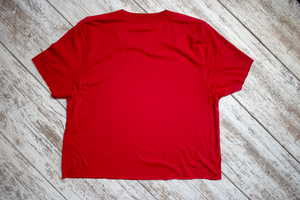 Torched Michigan Hand Cropped Tee - Red