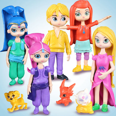 Shimmer and Shine with pets 5 Pieces