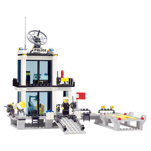 Police Station Lego Building Blocks Set