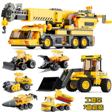 Kids Dump Truck and Building Truck Set