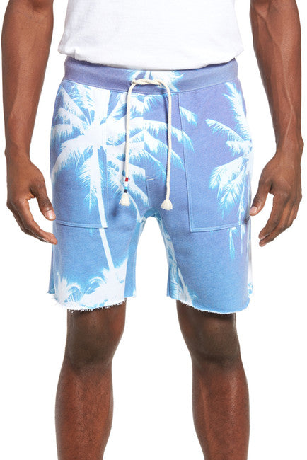 SOL ANGELES MEN'S AZURE SADDLE CUTOFF KNIT SHORTS