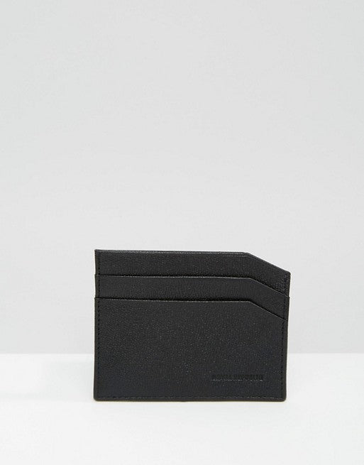 ROYAL REPUBLIQ FUZE LEATHER CARDHOLDER BLACK