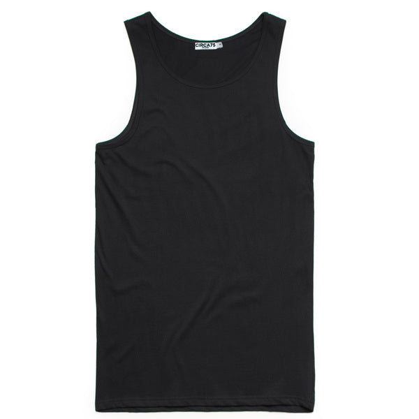 CIRCA75 MENS MUSCLE FIT SINGLET BLACK