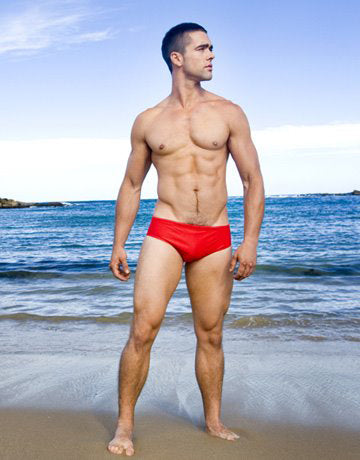 CIRCA75 SWIM BRIEF - RED