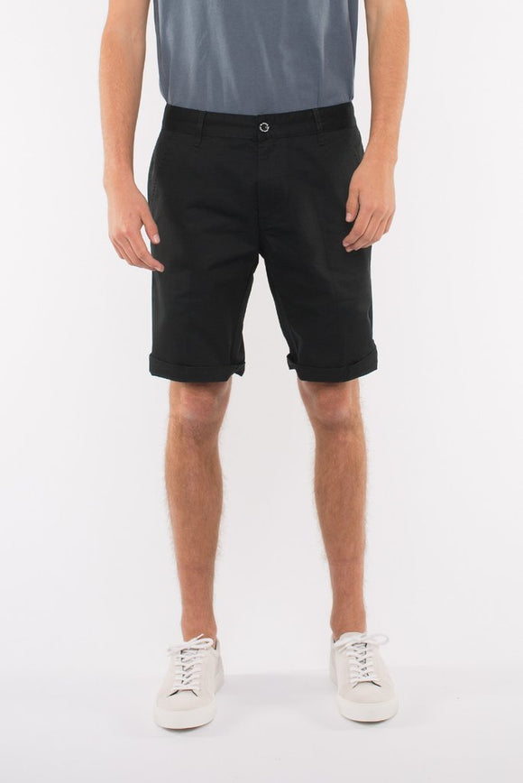 DR DENIM MEN'S DIRK SHORTS SHORTS SATIN BLACK