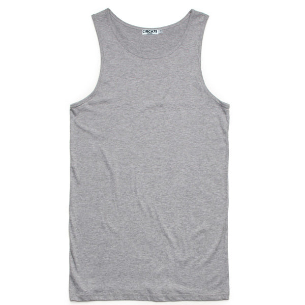 CIRCA75 MENS MUSCLE FIT SINGLET GREY MARLE