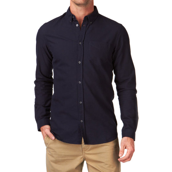 DR DENIM MEN'S PETE SLIM FIT SHIRT DEEP BLUE