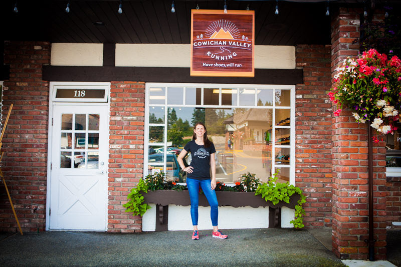 Opening a running store in the Cowichan Valley? Are you crazy? Nope. Just lazy.