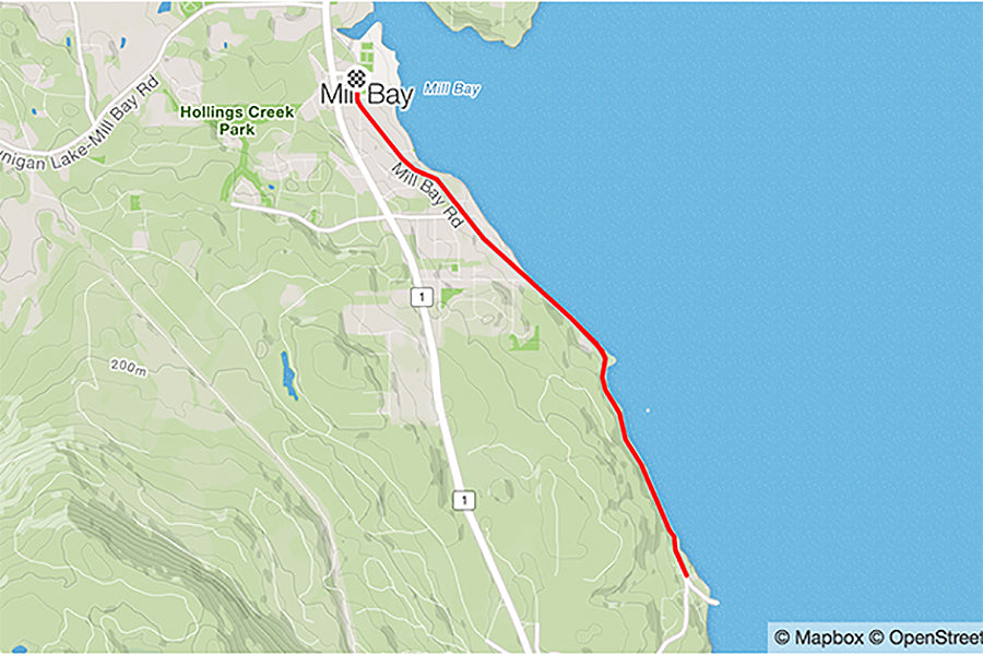 CVR Run Club Route - Mill Bay Rd