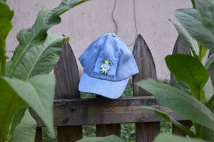 Sticker Hat - Blue with Turnip Patch