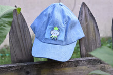 Load image into Gallery viewer, Sticker Hat - Blue with Turnip Patch