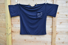 Load image into Gallery viewer, Navy Blue Big Pocket Tee