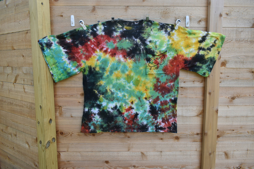 Tie Dye Big Pocket Tee