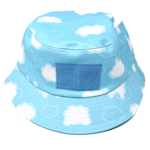 Cloud Print Sticker Bucket Hat