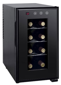8-bottle Thermo-Electric Slim Wine Cooler with Heating