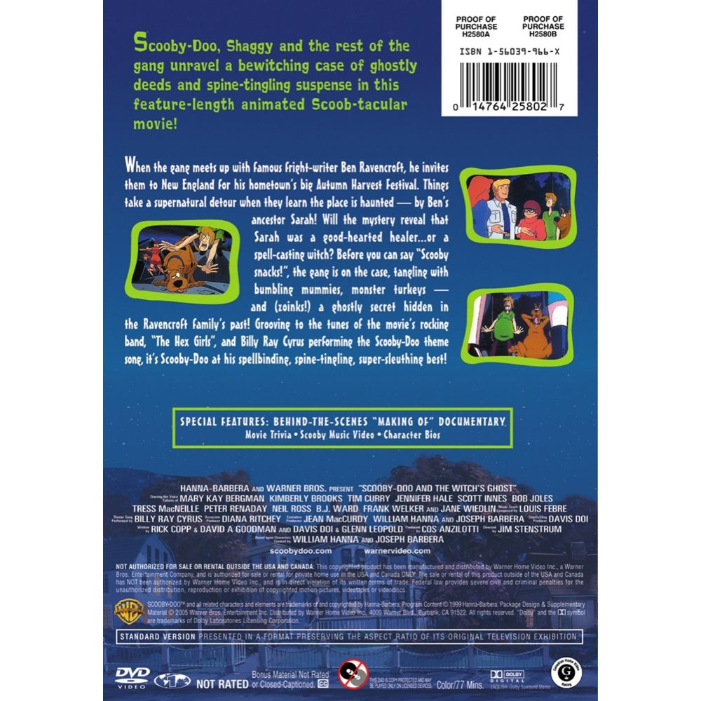 Scooby Doo And The Witch S Ghost Dvd Wb Shop