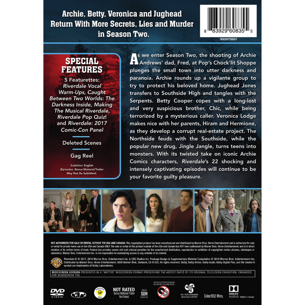 Riverdale: The Complete Second Season (DVD)