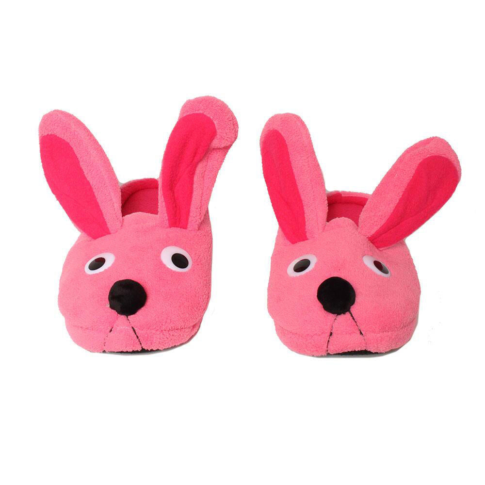 adult-pink-bunny-slippers