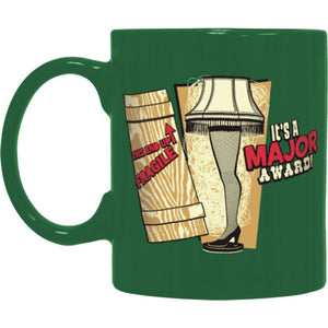 A Christmas Story Leg Lamp Green Coffee Mug