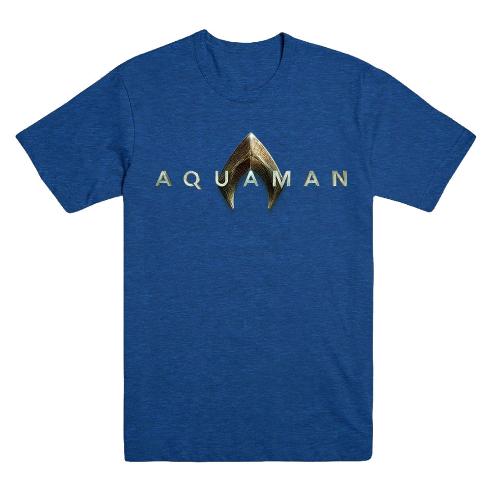 Aquaman Movie Heather Royal Logo Exclusive T-shirt