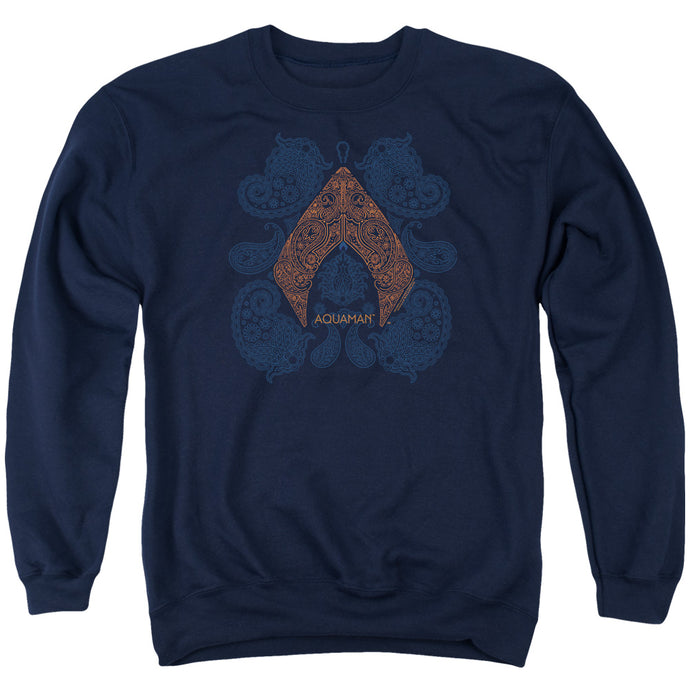 Aquaman Movie Aqua Paisley Crewneck Sweatshirt