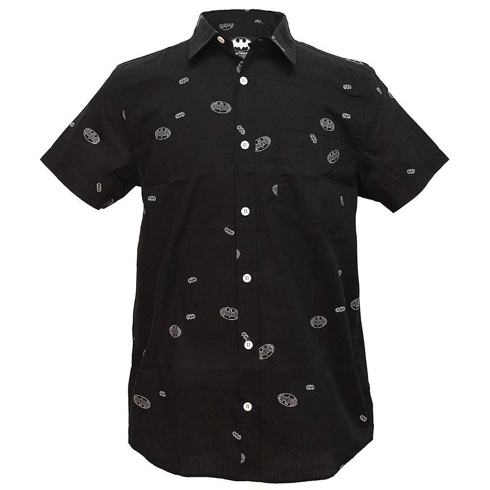 Batman Logo Short Sleeve Woven Shirt