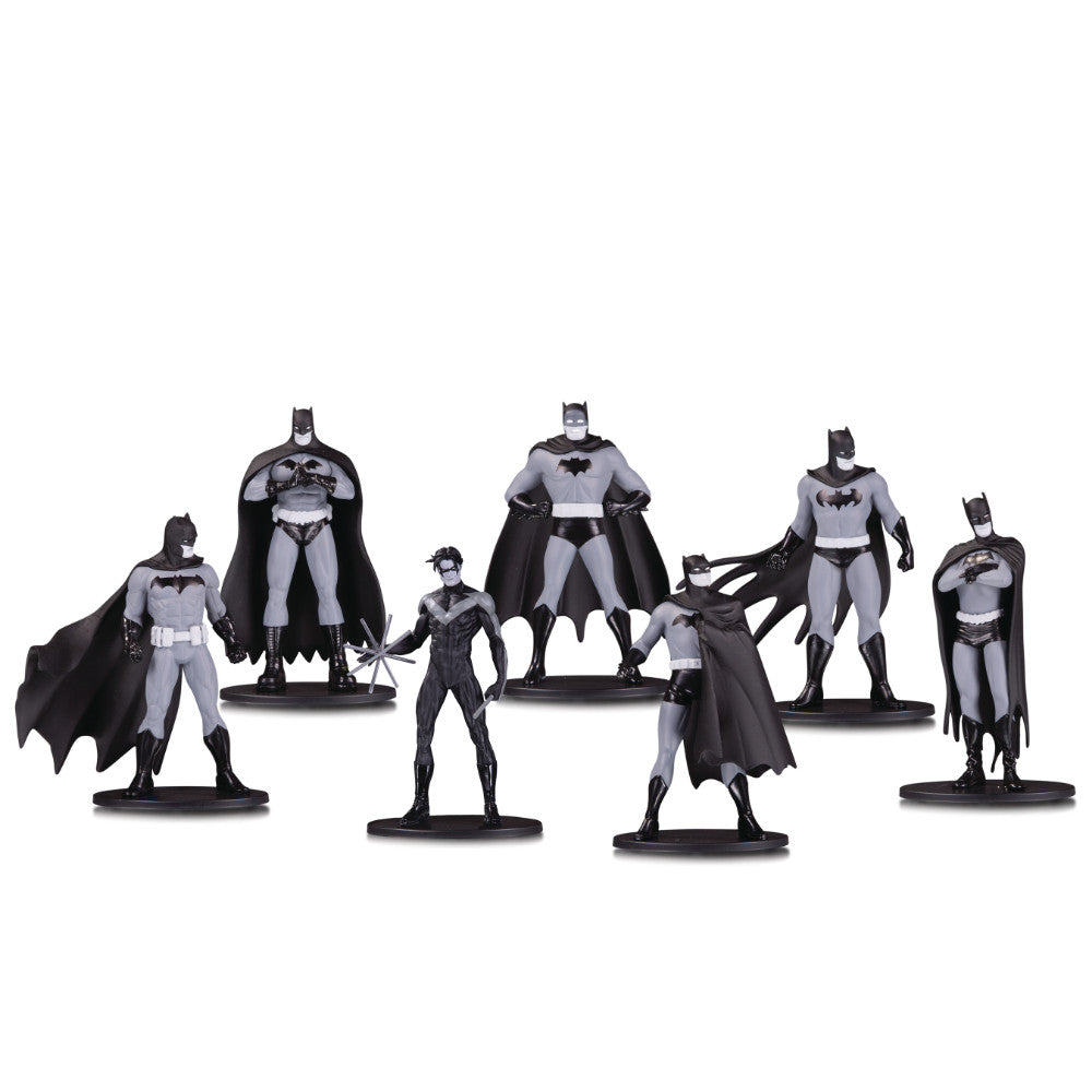 Batman Black & White Mini Figure 7-Pack
