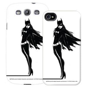 Batgirl Black & White Phone Case for iPhone and Galaxy