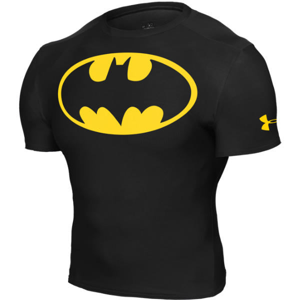 Batman Alter Ego Compression Black Short Sleeve Shirt by Under Armour -  Small 523bf716717