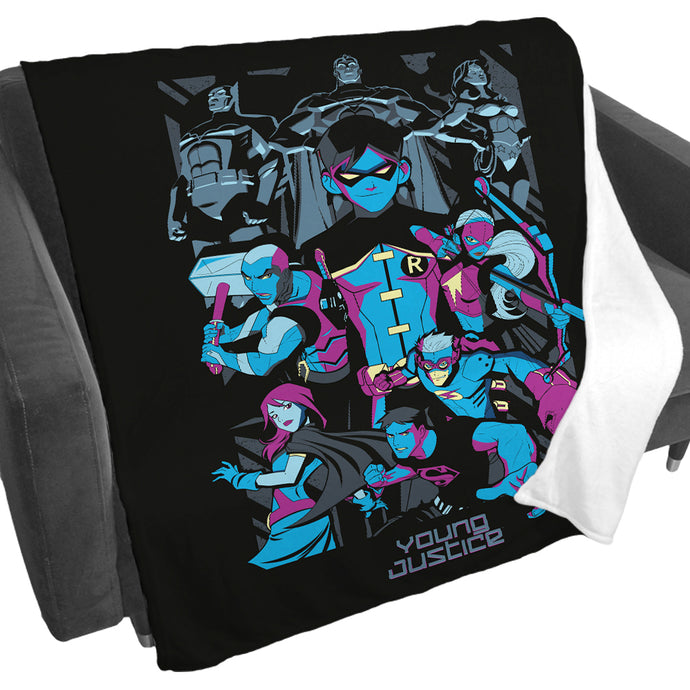 Young Justice Team Fleece Blanket