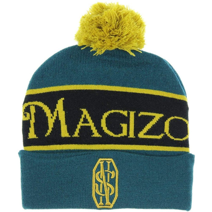 FANTASTIC BEASTS AND WHERE TO FIND THEM™ NEWT SCAMANDER™ Magizoologist Blue Yellow Cuff Pom Beanie