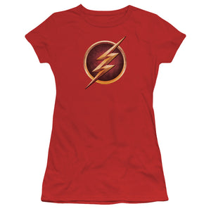 The Flash TV Series Chest Logo (Variant) Juniors T-shirt