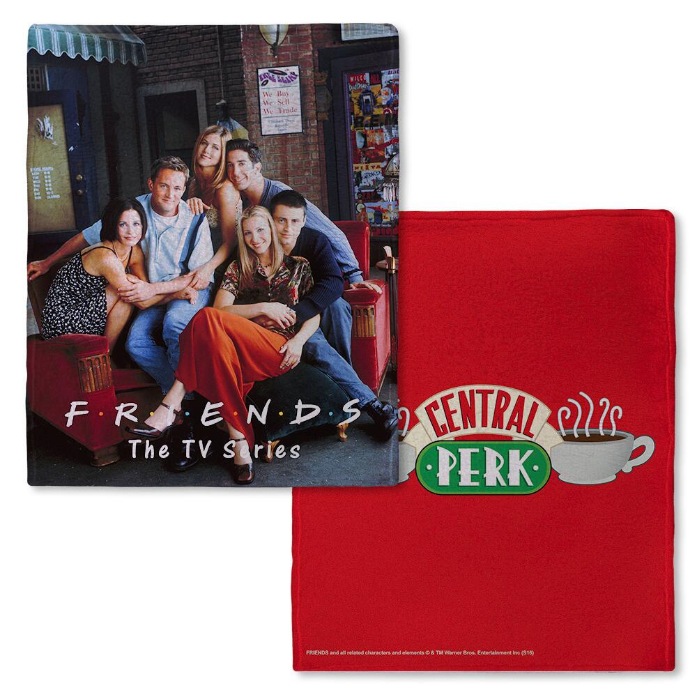 Friends CENTRAL PERK™ Red Fleece Throw Blanket