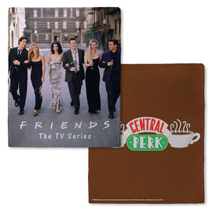 Friends CENTRAL PERK™ Brown Fleece Throw Blanket