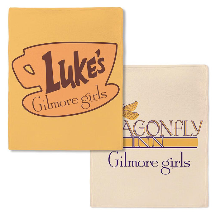 Gilmore Girls Luke's Diner and Dragonfly Inn Fleece Throw Blanket